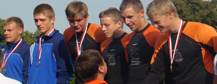 Gold medal of sub-junior championship, canou team